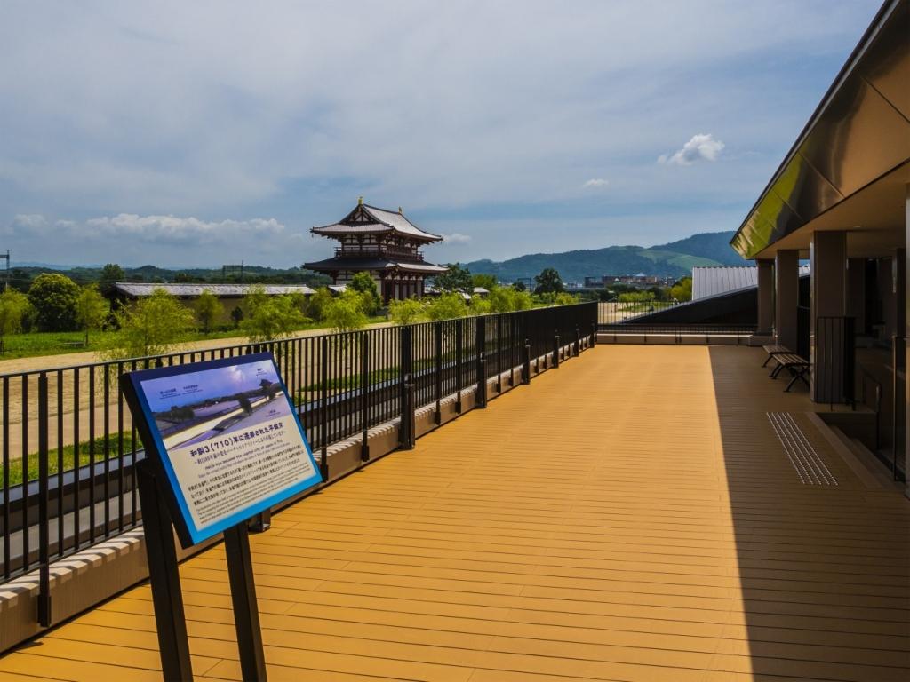 県営平城宮跡歴史公園 朱雀門ひろば 天平みはらし館「展望デッキ」